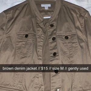 Brown denim jacket